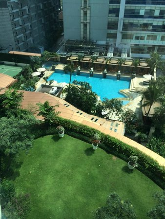 InterContinental Jakarta MidPlaza: View from room to pool area