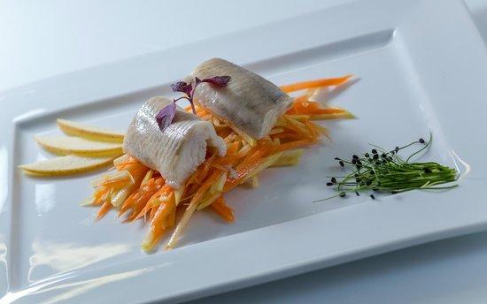 Restaurant Roberts im Felsenkeller: SALMERINO MARINATO - MARINIERTER SAIBLING