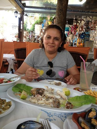 Fainos Restaurant : you can see the contend on my wife's face