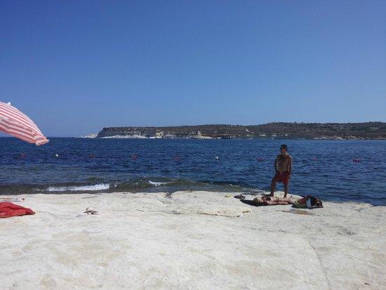 Cerviola Hotel : Spiaggia di Marsascala, (mare bellissimo)