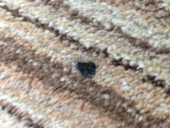 Butlin's Minehead Resort: Cigarette burns in the carpet of a NON smoking room