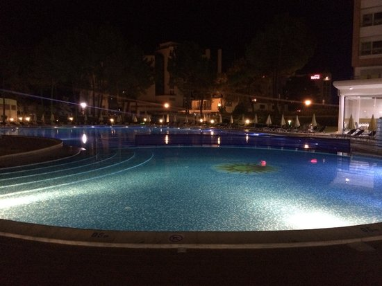 Hotel Riu Helios : Large pool at night