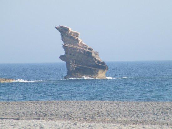 Agia Paraskevi, กรีซ: la plage en contrebas