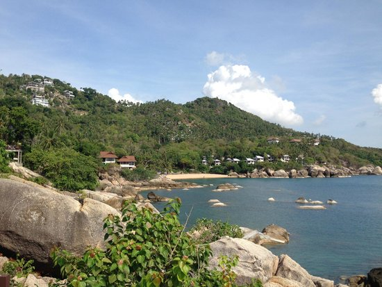 The Kala Samui: View of beach down the road from the hotel