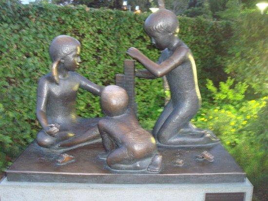 Hotel LEGOLAND: Sculpture dans la zone du siège de Lego