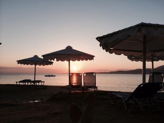 Roda Beach Resort & Spa: Sun rise over Albania