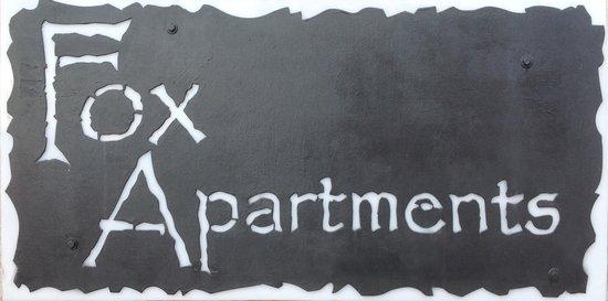 Fox Apartments Sign