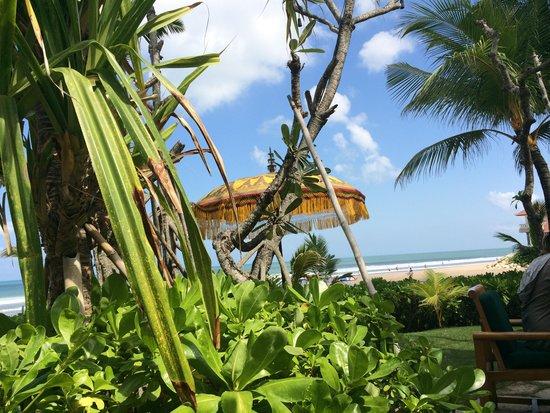 The Oberoi Bali : Uitzicht vanaf ontbijtrestaurant
