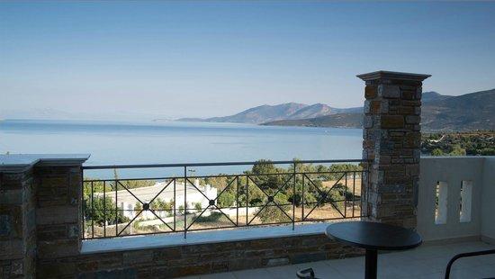 Hotel Thea - Studios & Suites: Vue depuis le balcon de la chambre