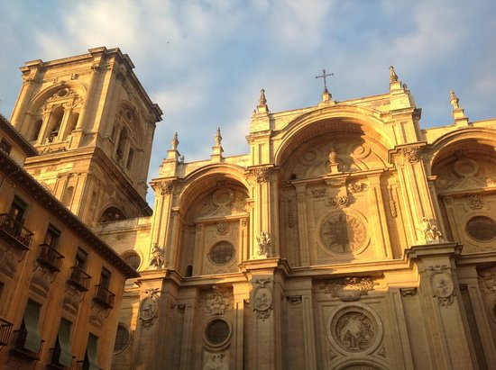 Catedral de Granada: The west front bathed in the evening sun