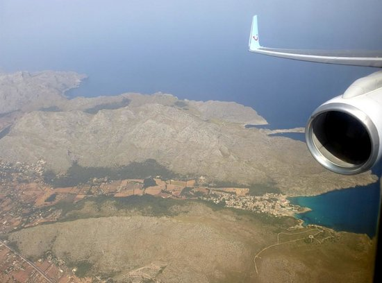 Grupotel Molins: Cala San Vicente from plane