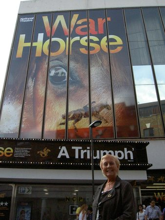 War Horse: My wife at the show.