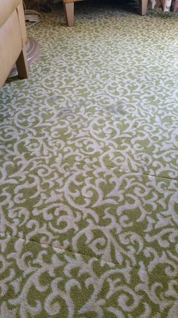 Golden Nugget Hotel: Stained carpeting with patchwork replacements.
