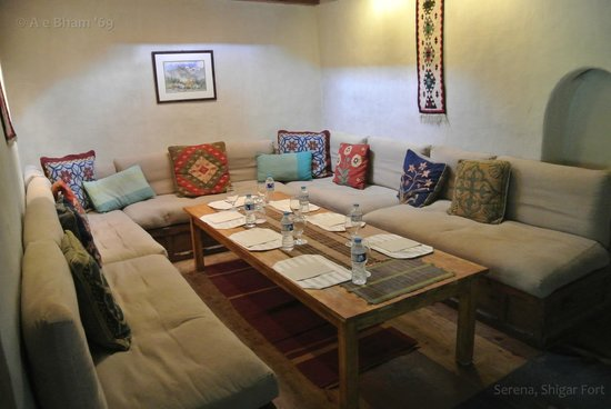 Serena Shigar Fort : the Dining area