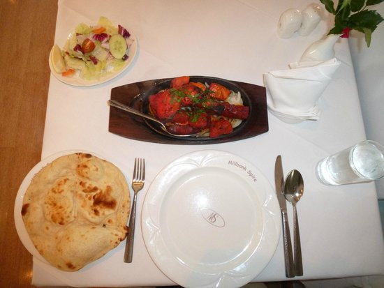 Millbank Spice: The entire served meal