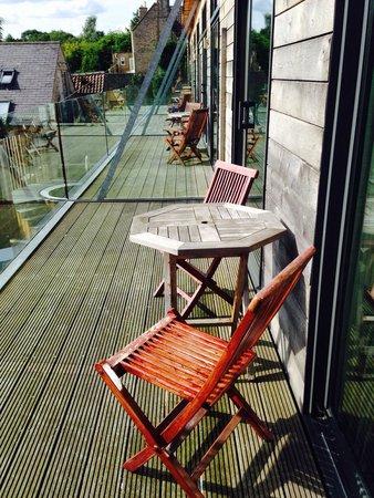 Feversham Arms Hotel & Verbena Spa: Balcony of room 33 - spa suite
