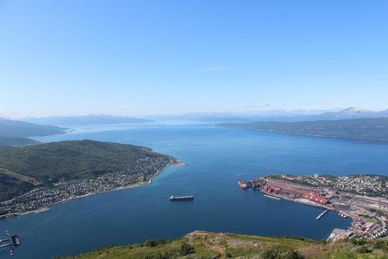 Narvikfjellet Gondola Lift: View from Narvik fjellet