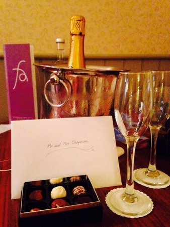 Feversham Arms Hotel & Verbena Spa: A gift left by the management on our wedding night, very thoughtful!