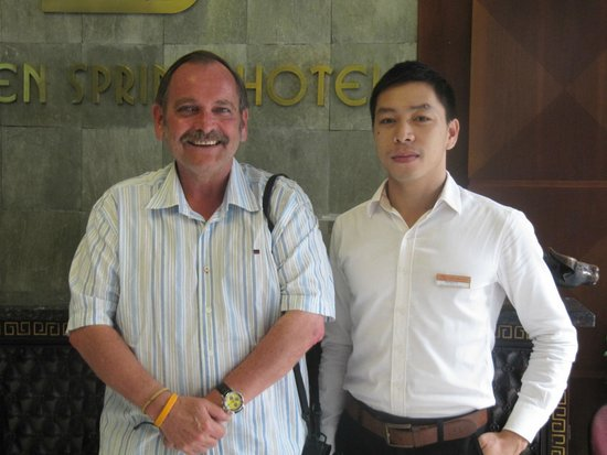 Golden Spring Hotel: Mr. Phi, efficient and helpful as with all staff