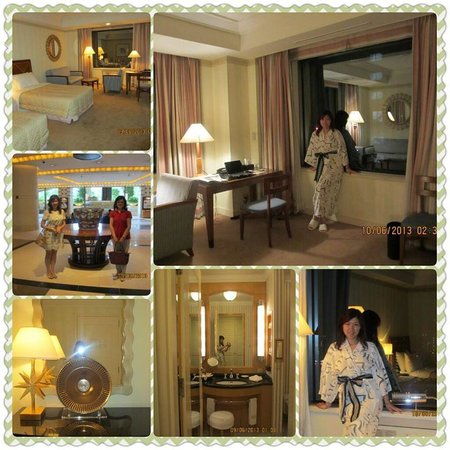 Imperial Hotel Osaka: Room, bathroom, lobby