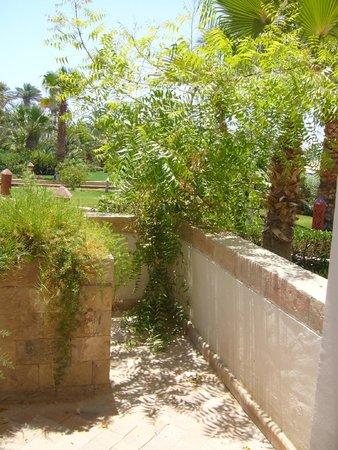 Fort Arabesque Resort, Spa & Villas: Boscaglia per uscire dalla veranda! Manutenzione Zero!