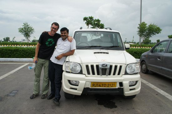 India By Car and Driver - Day Tours: Rajesh Singh, our car and my husband