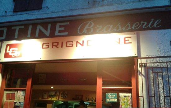 La Grignotine : Enseigne