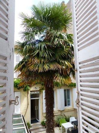 Hotel Rocafortis : apercu de la terrasse interieure