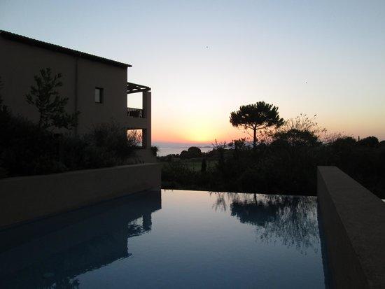 The Romanos Resort, Costa Navarino: Amazing sunset from our room