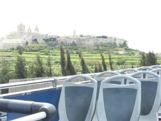 Le Meridien St. Julians: On the bus passing the silent city