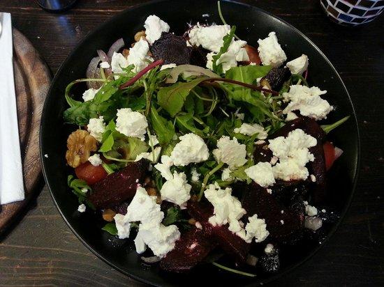 The New Artisan Bakery of Tsfat: Roasted beet salad