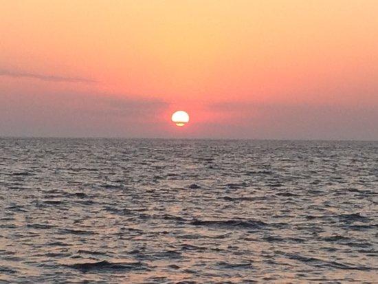 Santorini Sailing : Sunset over Oia from Dream Catcher