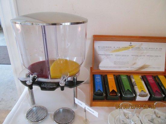 Schlosswirt Meseberg: Getränke (Saft) Frühstück