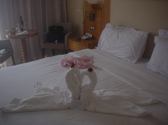 Atlantica Golden Beach Hotel : Hotel cleaner made these Swans