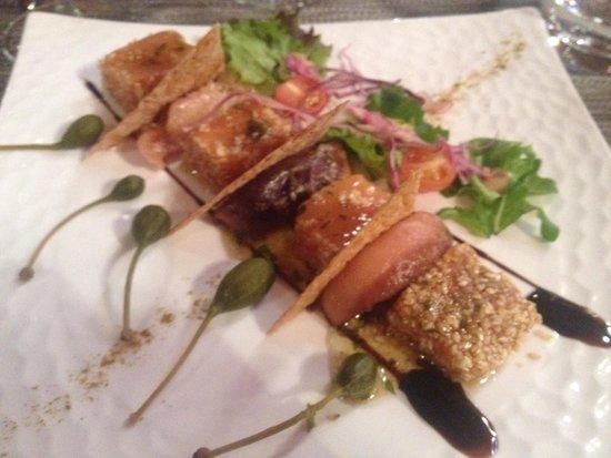 Restaurant l'Absinthe Cafe : Gravlax de saumon