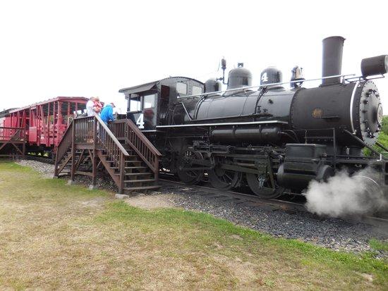 Lumberjack Steam Train: Train warming up