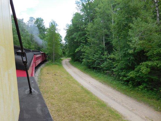 Lumberjack Steam Train: Steam engine heading back