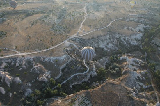 Turkiye Balloons: View from the ballooon at the top