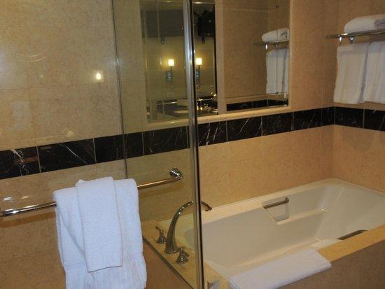 The Palazzo Resort Hotel Casino: Douche et baignoire