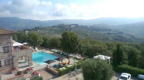 CDH Hotel Radda : La vista dalla nostra stanza di giorno