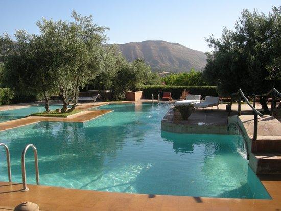 Ksar Shama : the pool in the morning sun