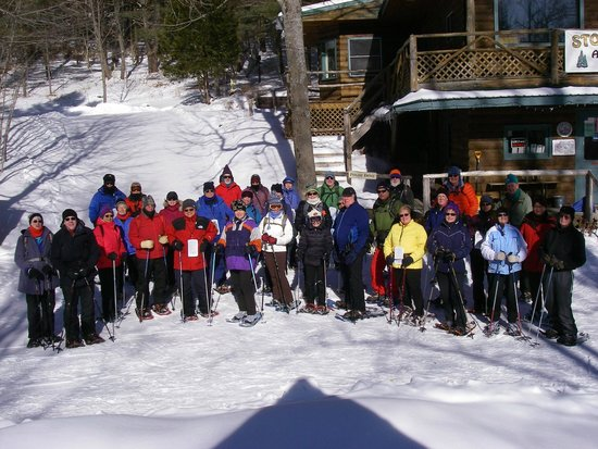 Natural Stone Bridge and Caves: North Country Snowshoe Club at Stone Bridge