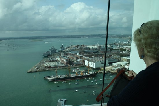 Portsmouth Historic Dockyard: View from one side of Spinnaker Tower