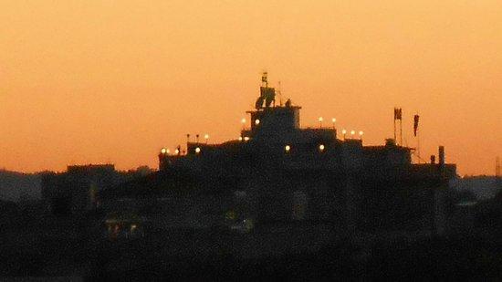 Ambasciatori Hotel: Vista tramonto dal lato angolare del balcone