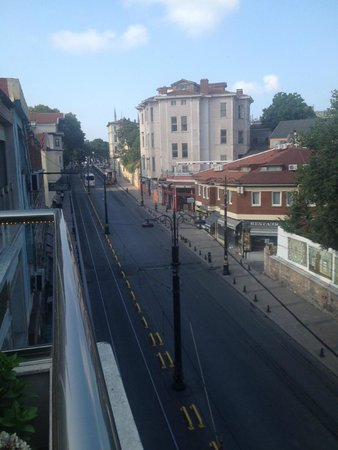 The Empress Theodora Hotel: early morning view from breakfast roof