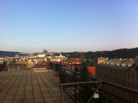 Clarion Hotel Prague Old Town : View from one of three Suite's terrace