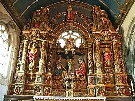 Commana, France: Retable de Sainte-Anne, vue d'ensemble