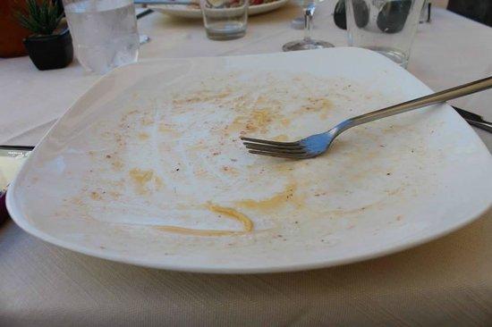 Il Ghiottone Trattoria Ristorante : piatto pulito