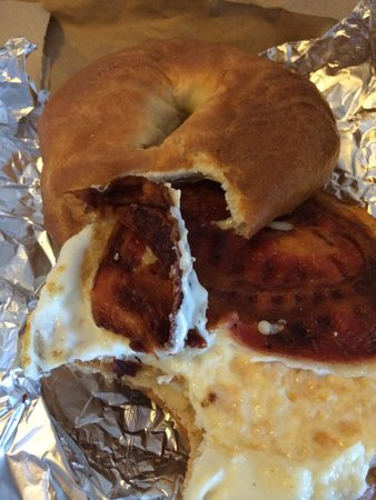 Sharky's Grill&BBQ: Burnt paper thin bacon