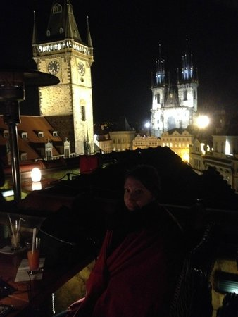 Terrasse picture of hotel u prince prague tripadvisor for Terrace u prince prague